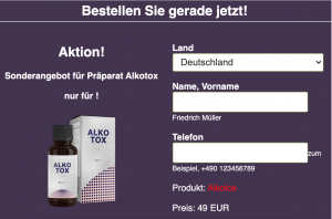Alkotox - Alkoholentgiftung - erfahrungen - in apotheke - Aktion